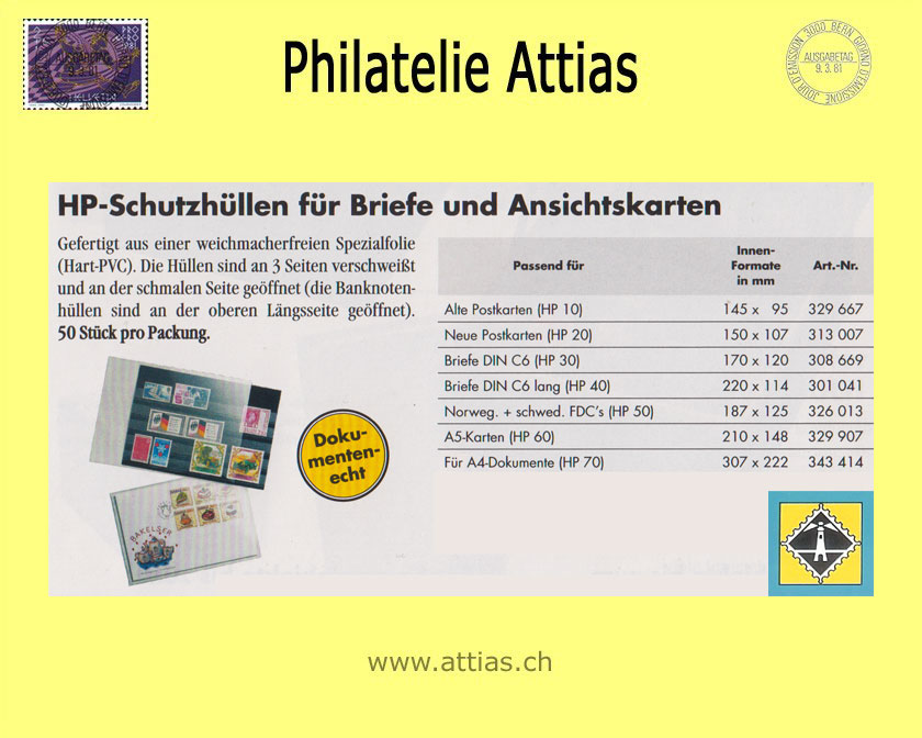 Lt Hp 30 Hüllen Für Briefe Din C6 Hit Philatelie Attias